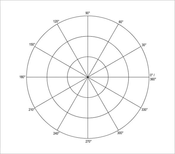 Free Polar Graph Paper