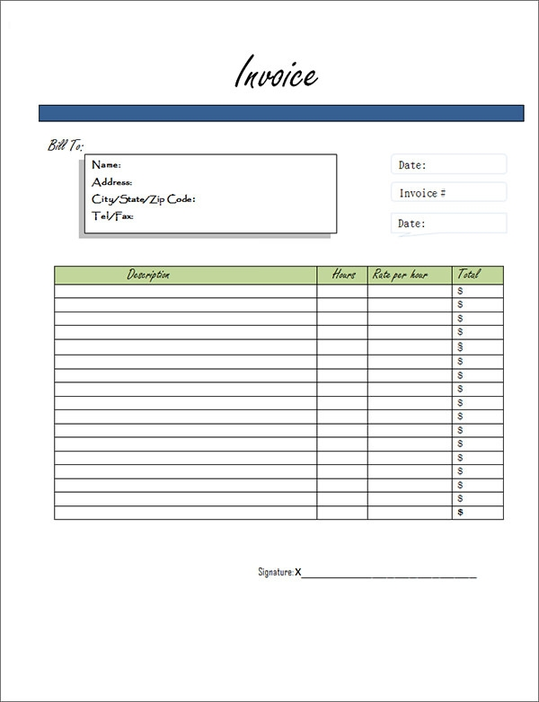 It's just a photo of Unusual Printable Invoices Free