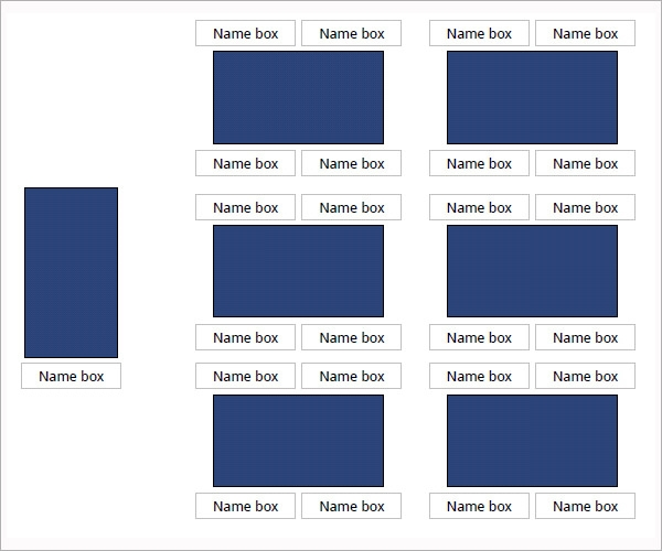 Printable Free Seating Chart Templates to Download
