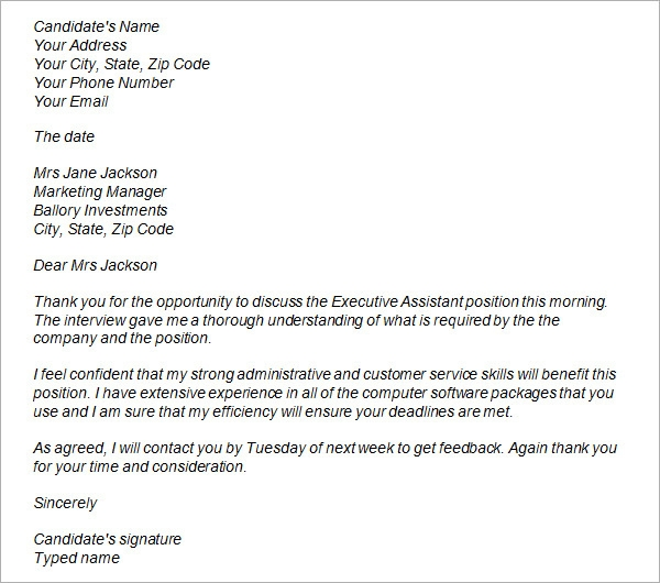 Sample Thank You Letter After Interview Pdf Pdf Pictures to pin on ...