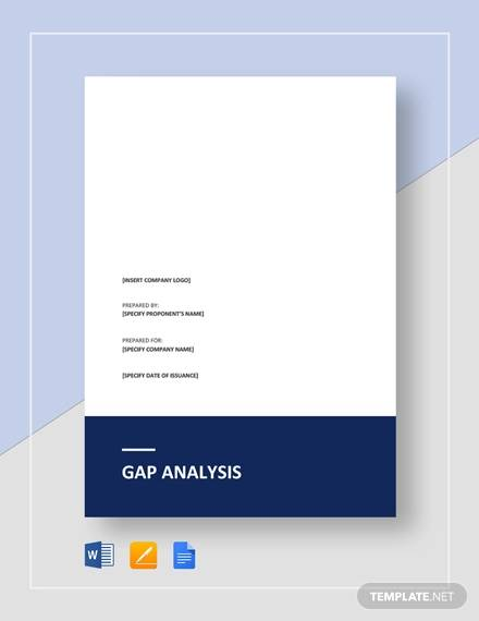 gap analysis template2