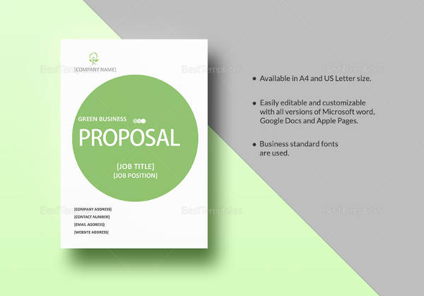Green Business Proposal Template  Business Proposals Templates