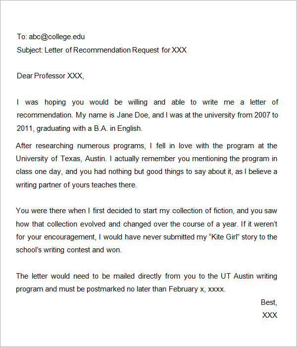 Sample Scholarship Recommendation Letter Sample Recommendation Letter PDF Free Download