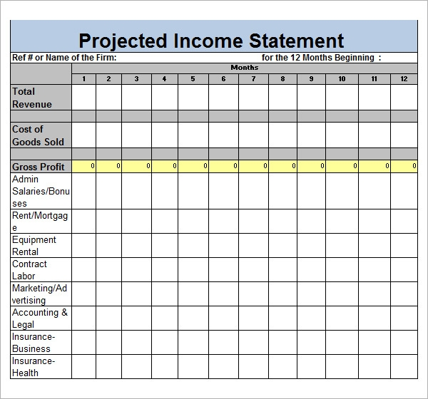 Sample Income Statement Template   Free Documents In Pdf Word