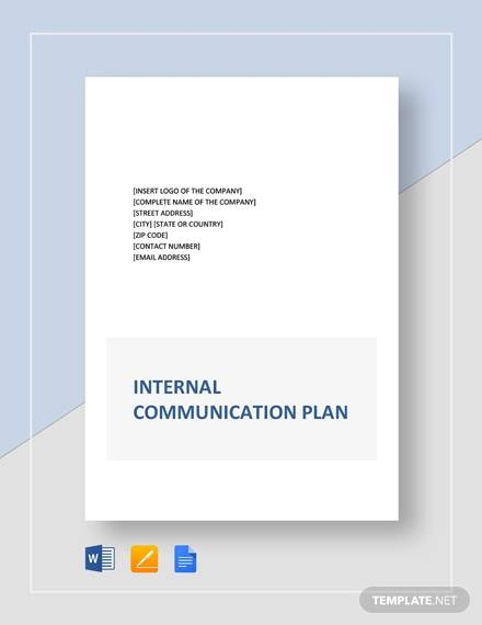internal communication plan template2