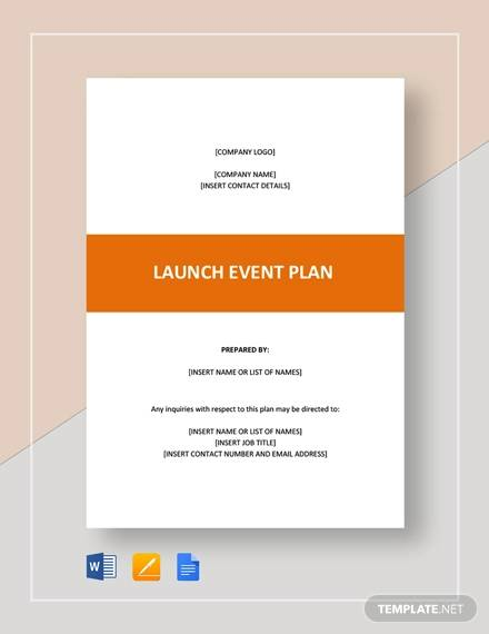 launch event plan template