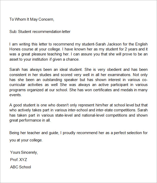 recommendation letter template microsoft word