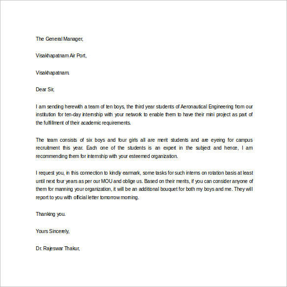 Self Recommendation Letter Sample  Examples In Word Pdf Job