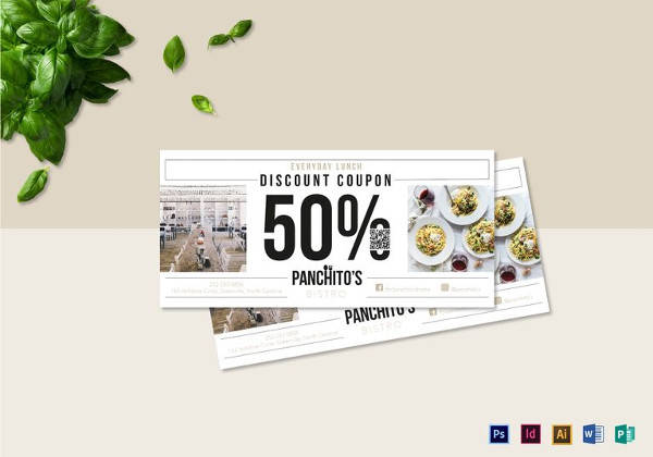 Lunch Discount Coupon Template  Discount Coupons Templates