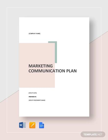 marketing communication plan template2