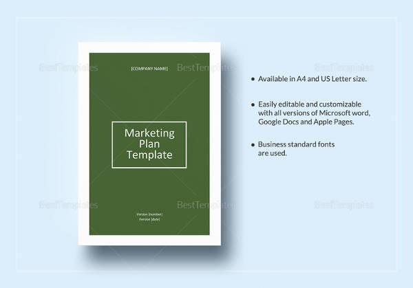 marketing plan template4