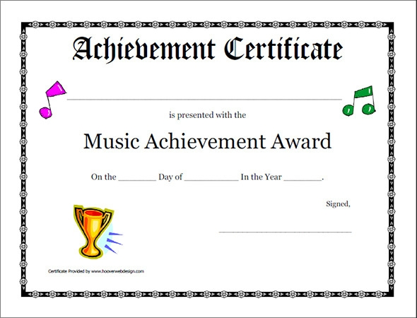 Award Certificate Template 40 Download in PDF Word Excel PSD – Blank Achievement Certificates