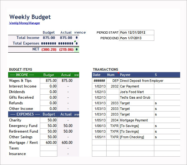 FREE 9+ Examples Of Bi-Weekly Budget Templates In Google