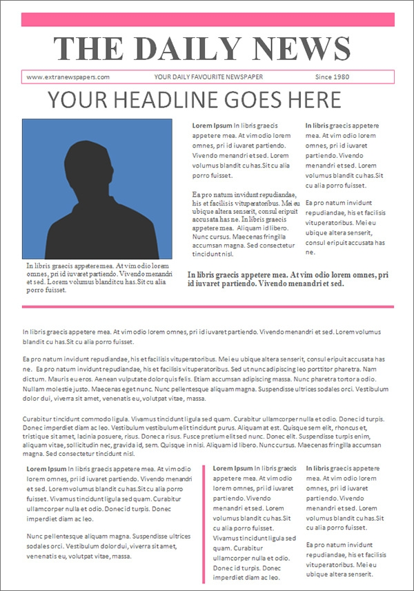 42 amazing newspaper templates sample templates for Newspaper article template online