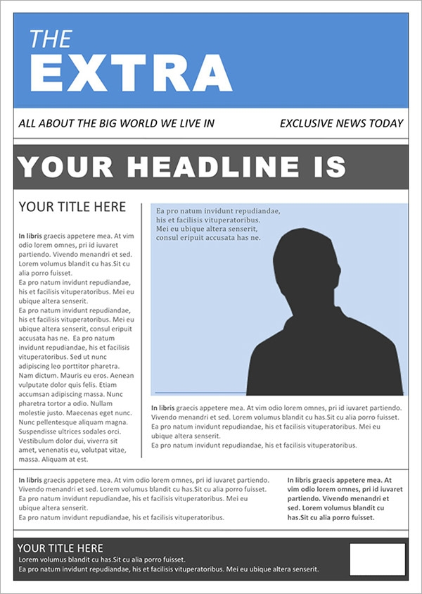 42 Amazing Newspaper Templates Sample Templates