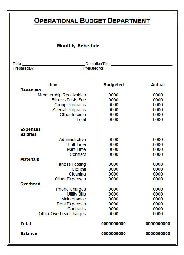 Sample Monthly Schedule Template   Free Documents In Pdf Doc
