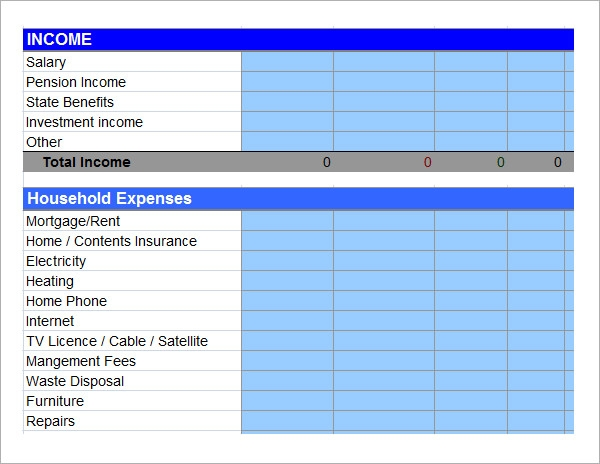 free 12  personal budget samples in google docs