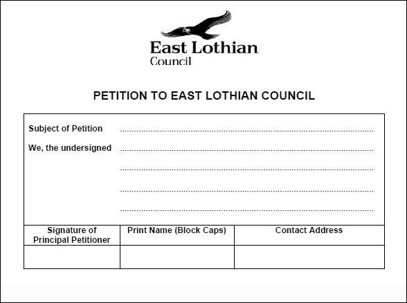 Petition Application Form Template