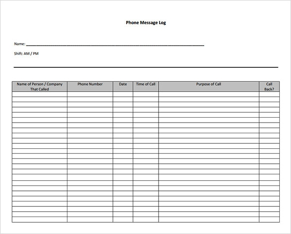 Phone Message Template Pdf  PetitComingoutpolyCo