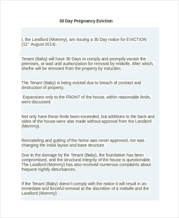 43 eviction notice templates pdf doc apple pages sample templates pregnancy baby eviction thecheapjerseys Image collections