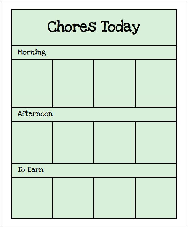 FREE 16+ Sample Chore Chart Templates In Google Docs