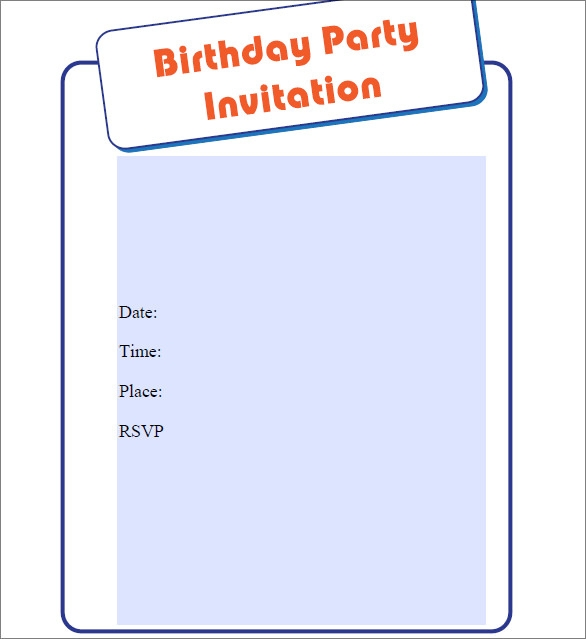 Print at Home birthday Invitations