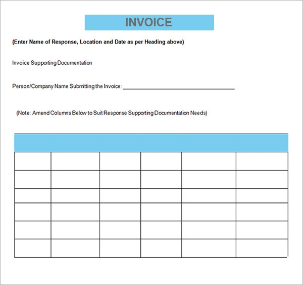 Free Printable Blank Invoice Templates | Free To Do List. Blank