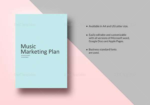 printable music marketing plan template