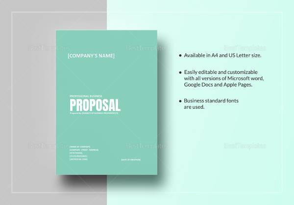 Professional Business Proposal Template  Microsoft Word Proposal Templates