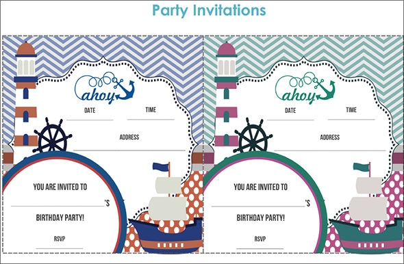 sailor birthday invitation