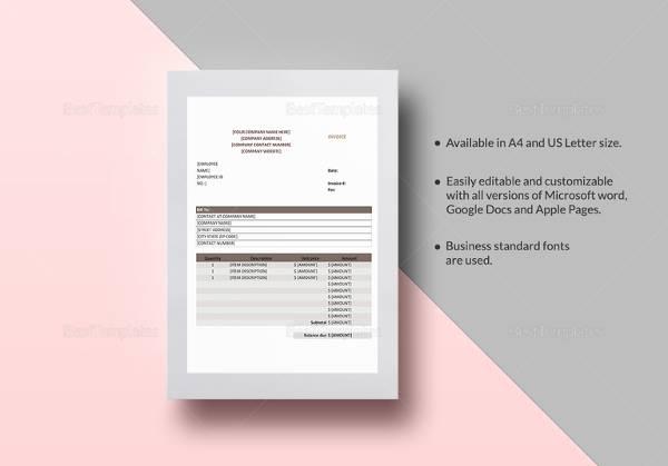 sales invoice templat