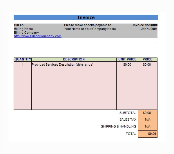 free 11  word invoice samples in word