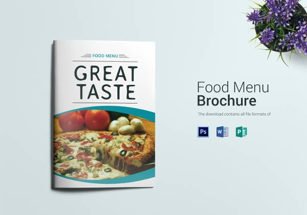 sample food menu bifold template