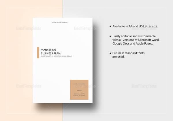 Beispiel eines Marketingplanpapiers