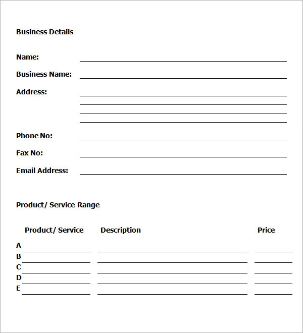 Self-Storage Sample Business Plan