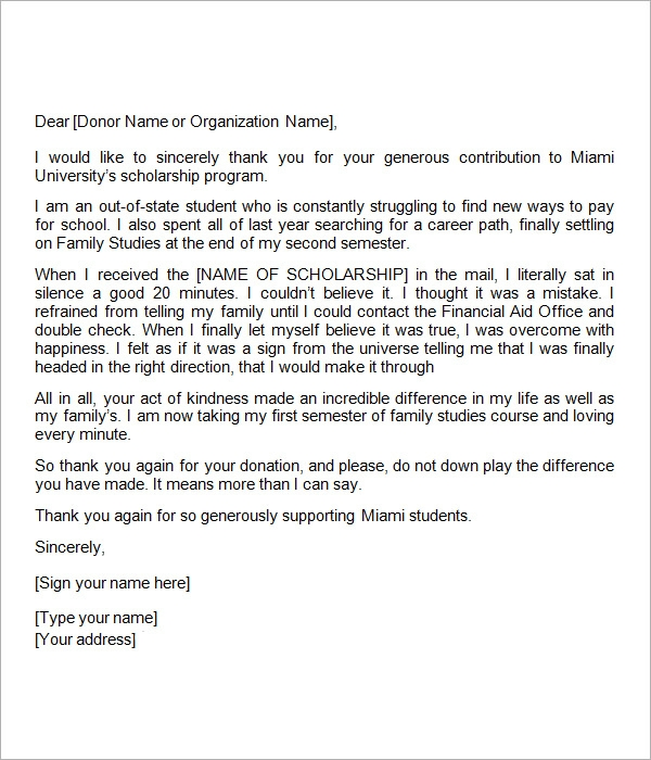 Thank you letter scholarship donor dolapgnetband thank you letter scholarship donor expocarfo