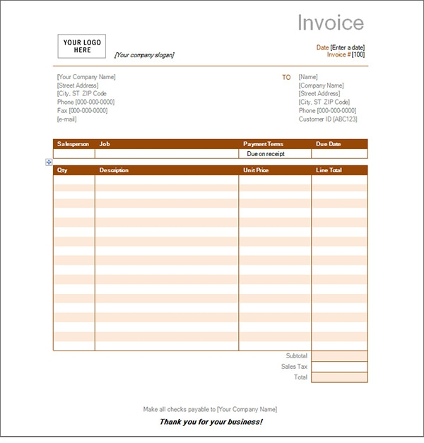 Service invoice 28 download in pdf word excel psd for Free printable service invoice