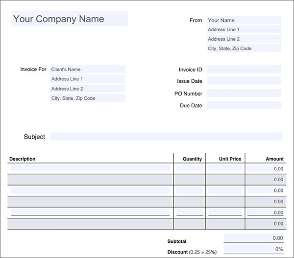 Service Invoice Download Documents In PDF Word Excel PSD - Service invoice template pdf