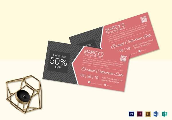Shopping Discount Coupon Template  Discount Coupons Templates