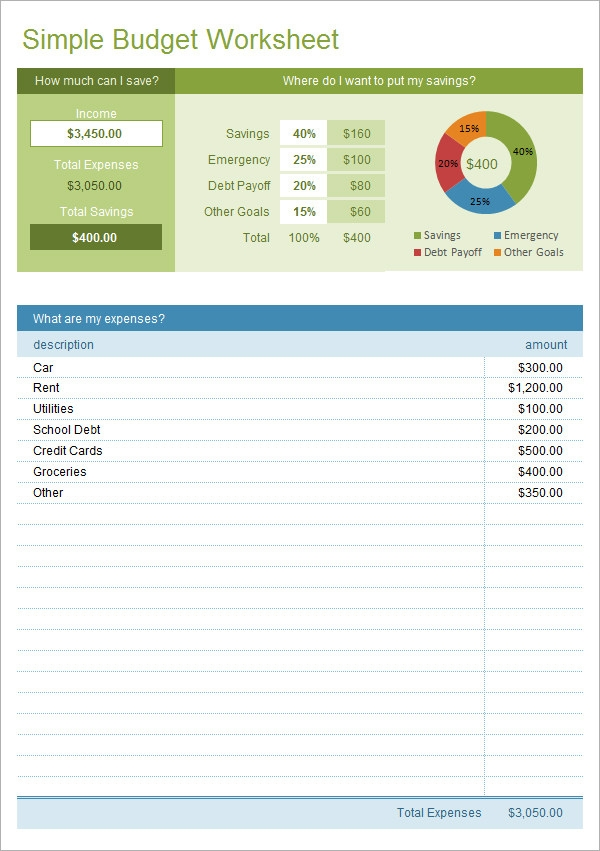 10 Excel Budget Templates – Project Budget Template