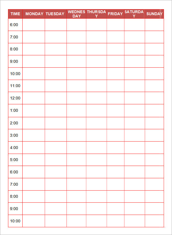 Free Printable Daily Planner Templates | Sample Templates