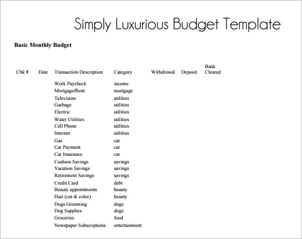 Monthly Budget Template 10 Download Free Documents In PDF Excel on ...