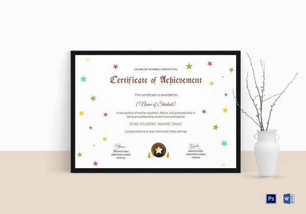 Certificate of Achievement Template - 38+ Download in PSD, PDF ...