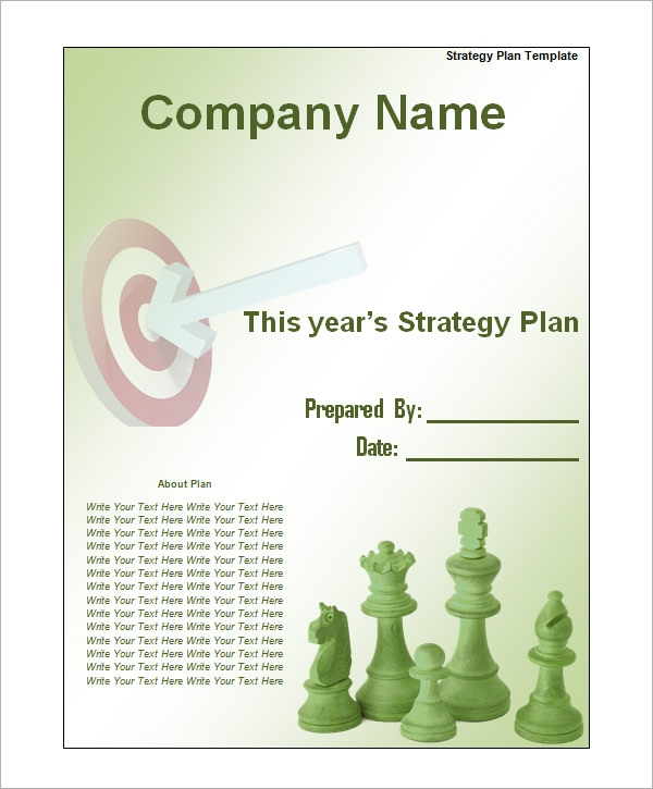 Sample Strategic Plan Templates 10 Free Documents in PDF Word – Strategy Template Word