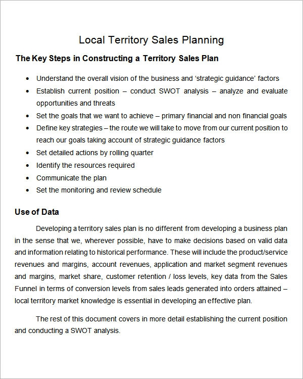 Sales strategy template pdf for Sales territory plan template