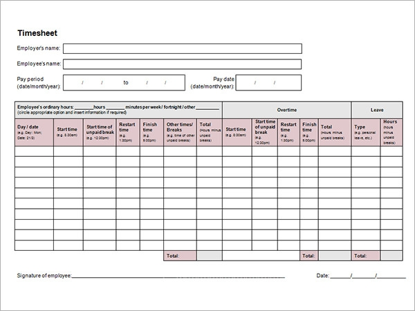 template to calculate hours worked - download 15 time card calculator templates sample