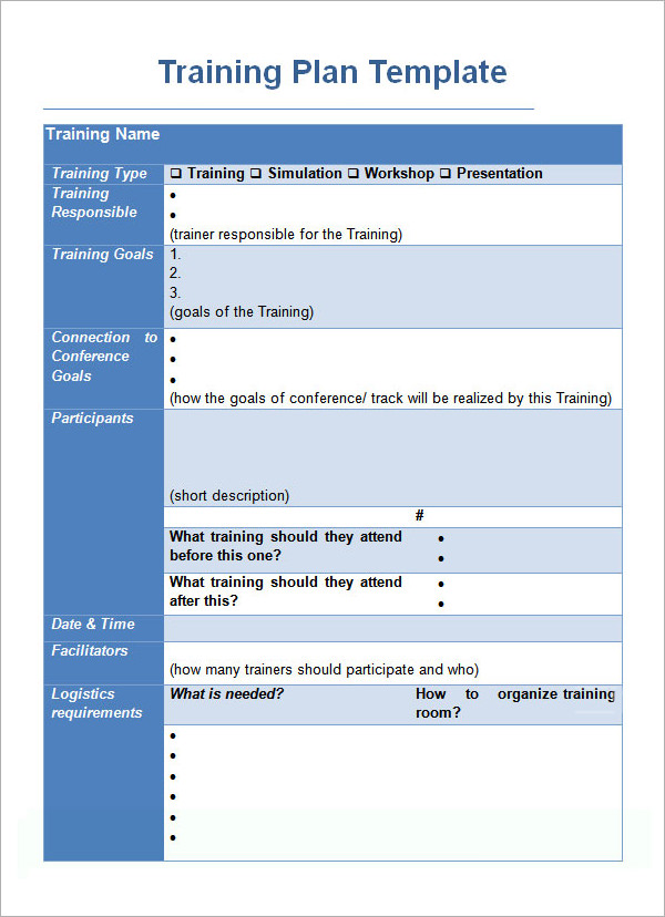 Training Plan Template   Download Free Documents In Pdf Word