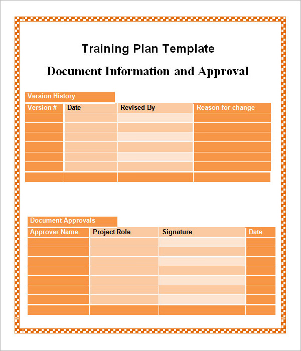 training schedule template1