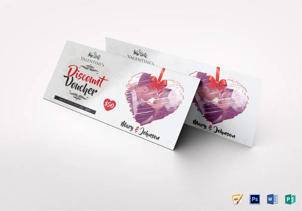 Valentines Discount Coupon Template  Discount Coupons Templates