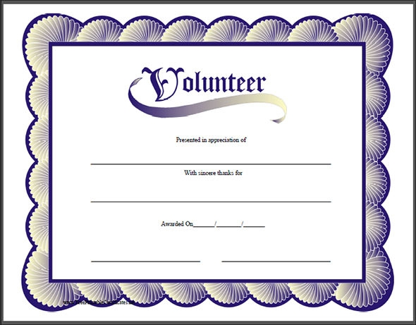 Elegant Volunteer Appreciation Certificate